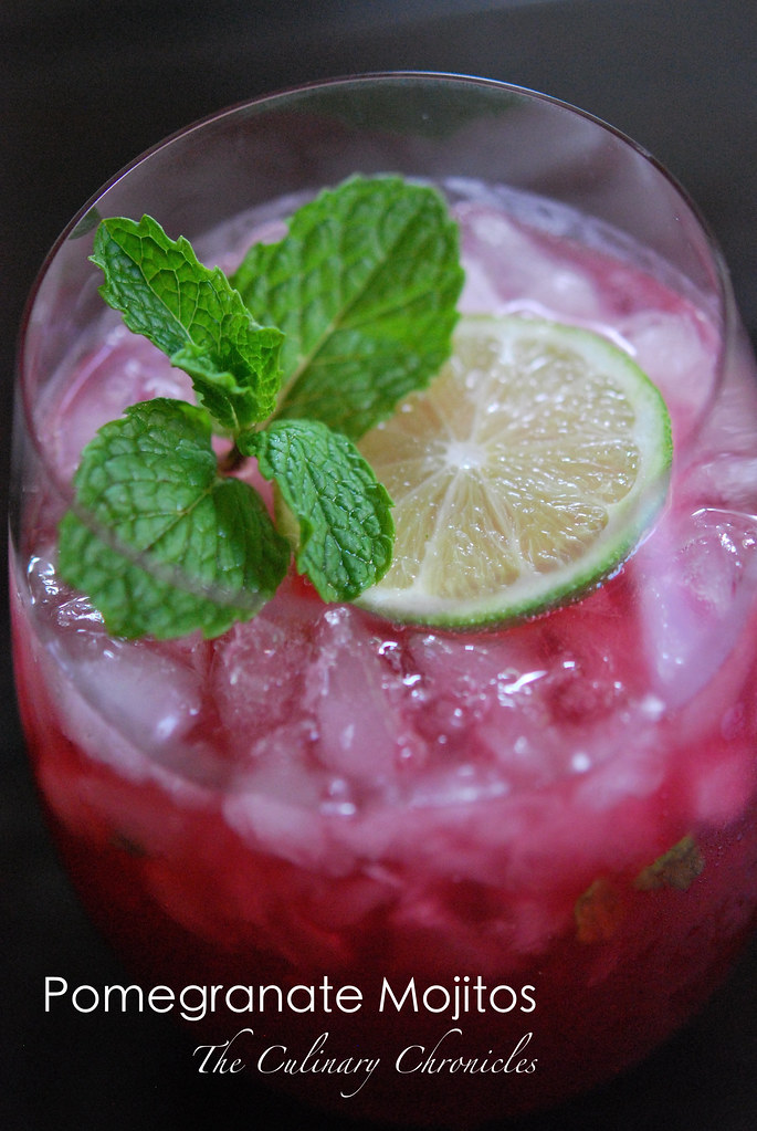Pomegranate Mojitos | Full Blog Post: theculinarychronicles ...