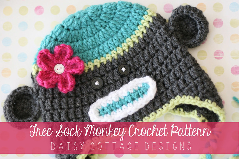 Sock Monkey Hat Crochet Pattern Daisy Cottage Designs
