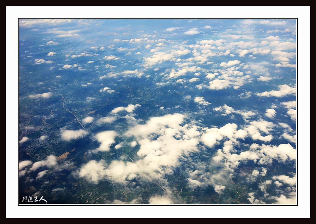 高雄飛首爾的天空