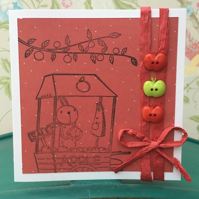 Santoro Kori Kumi apple cart card by StickerKitten