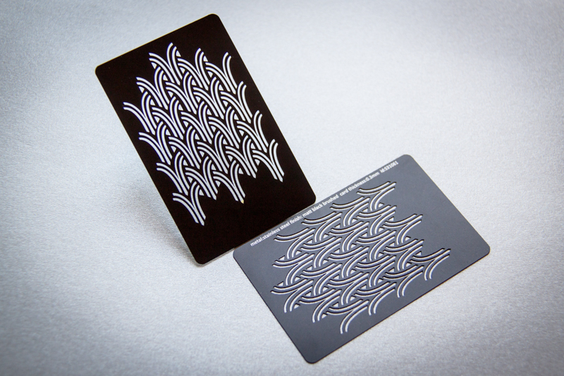 Matte black brushed stainless steel business card pure met flickr matte black brushed stainless steel business card by pure metal cards colourmoves