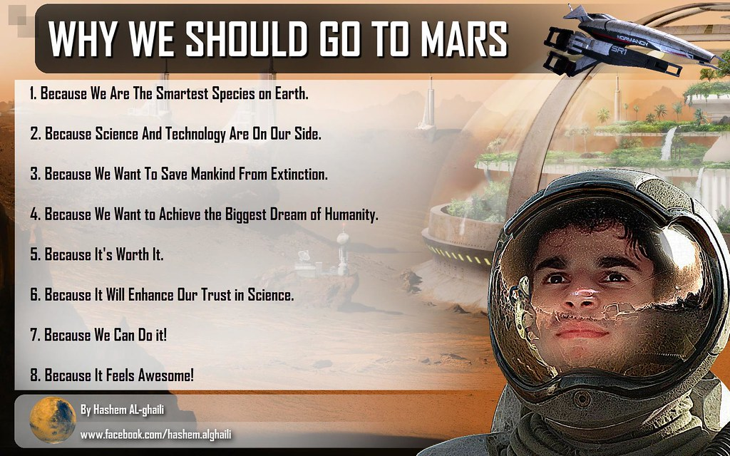 why we go the mars Why did columbus travel west why did marco polo head east because it is that pull, that unknown, that prospect of adventure that compels humans to.