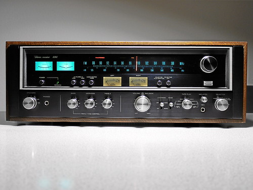 sansui 890 stereo receiver 1974 rare black face model of t flickr. Black Bedroom Furniture Sets. Home Design Ideas