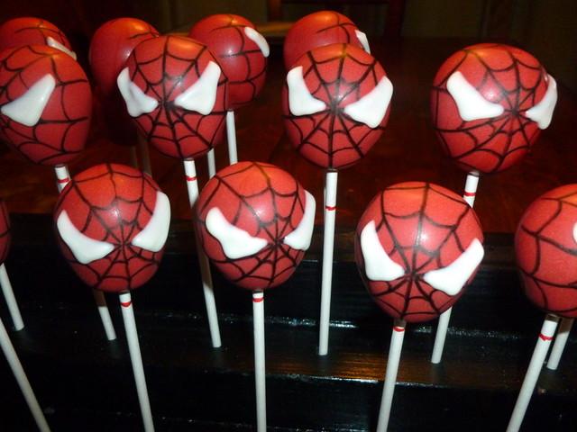 Spiderman Cake Pops Bakerella