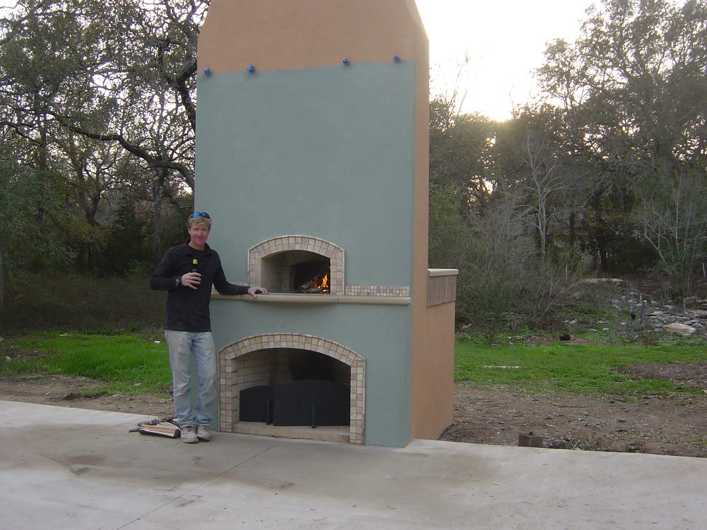 combo pizza oven fireplace texas oven co flickr