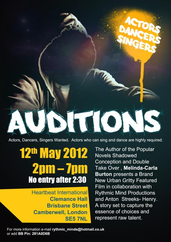Movie Audition Flyer