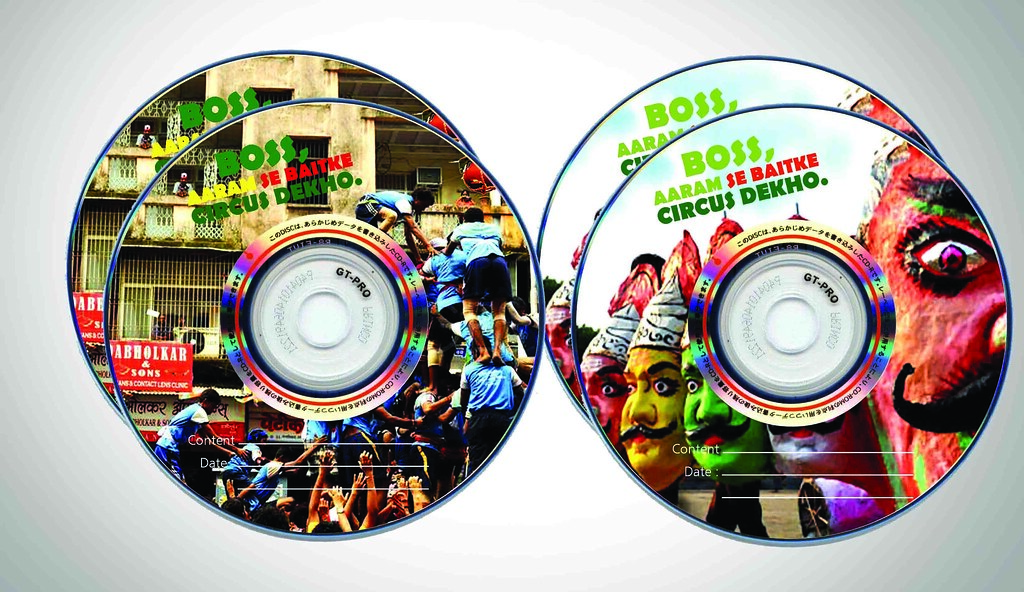 ... Circus Elephant CD Stickers | by Braj Yadav