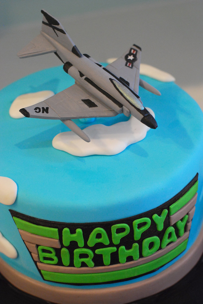 Jet Airplane Cale Jet Airplane Birthday Cake Cake Is Hand Flickr