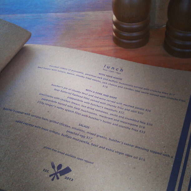 the butchers block restaurant cafe at wahroonga menu is s