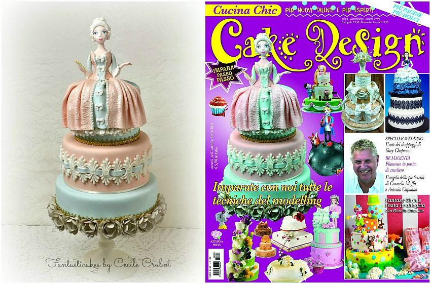 Madame de Pompadour Cake , cover magazine | Cake tutorial ma… | Flickr