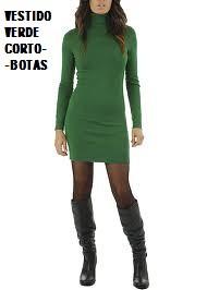 Vestido verde com botas
