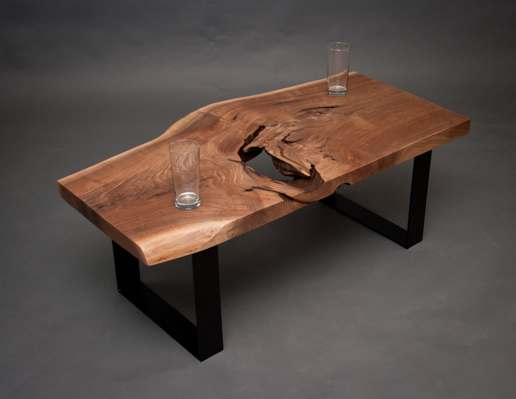 Reclaimed Live Edge Coffee Table   Seattle | Solid Slab   Blu2026 | Flickr