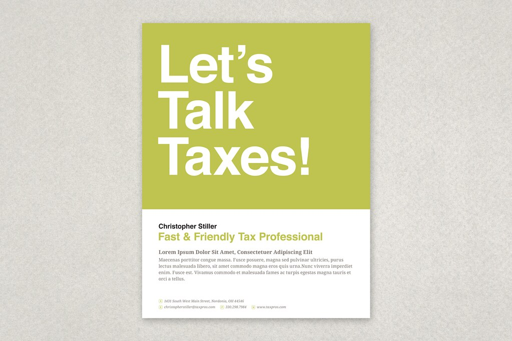 Friendly Tax Agent Flyer A Bold And Eye Catching Design