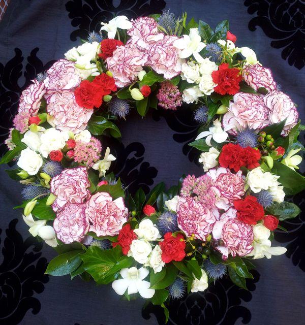ANZAC Day Floral Wreath | www.fbdesign.com.au W21 Floral Wre ...