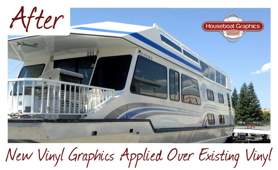 Houseboatgraphicsvinylgraphicsoverexistingboatdecal Flickr - Houseboat decals