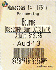 Jason Bourne ticketstub