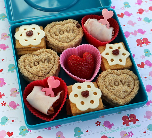 Valentine box of chocolates mini lunch bento snack | by anotherlunch.com