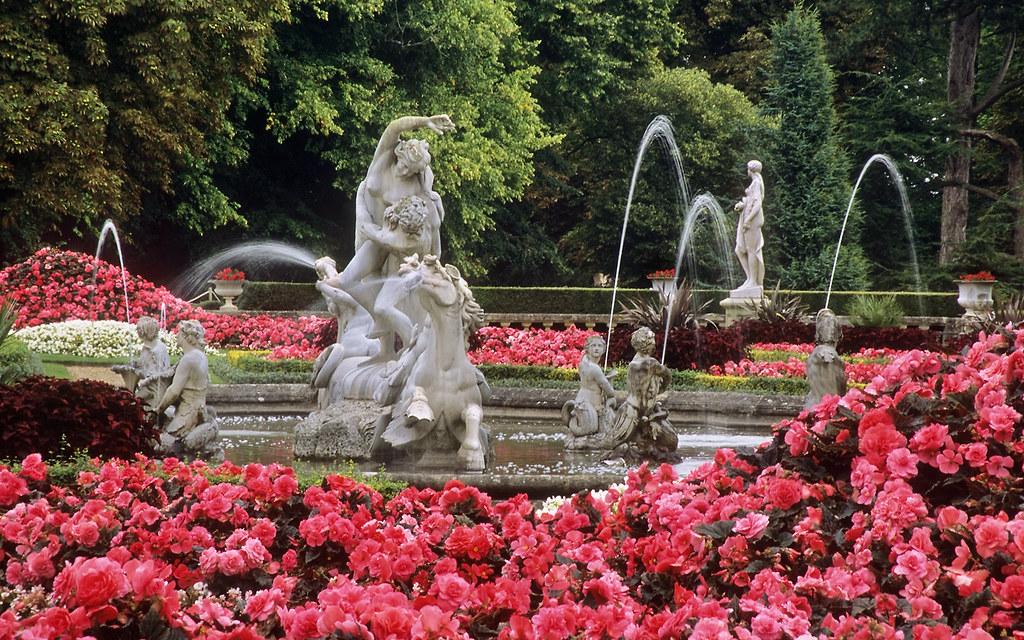 waddesdon manor gardens  buckinghamshire  uk