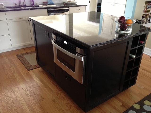 kitchen island microwave flickr photo sharing