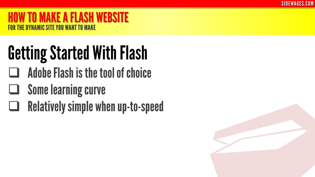 ... How to Make a Flash Website - PowerPoint Slide #4 - by SideWages