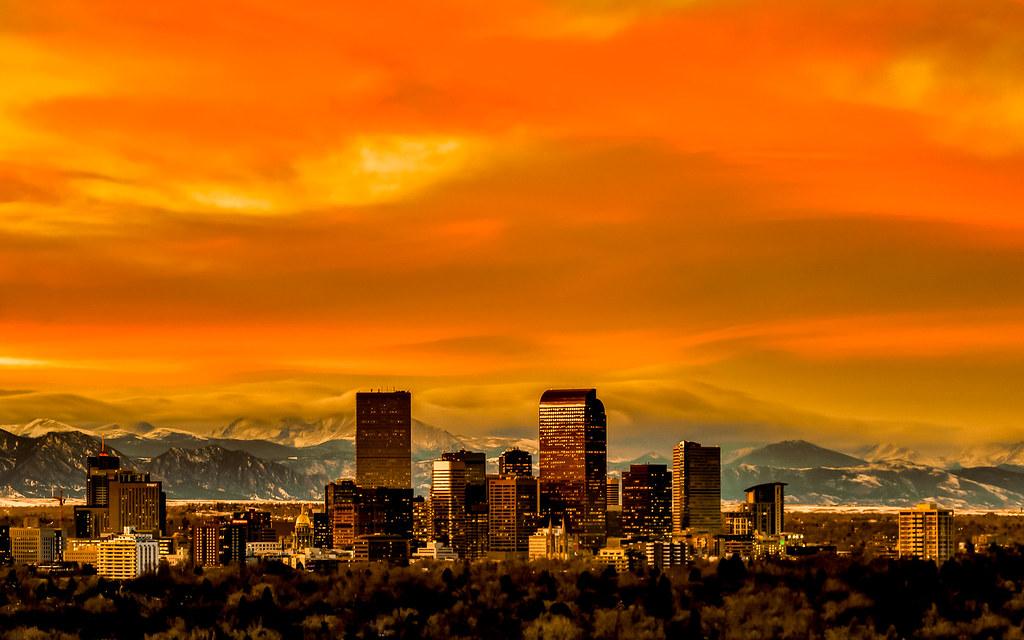 Colorado Mountain School >> Orange Denver Sunset | I had a school in Denver contact me a… | Flickr