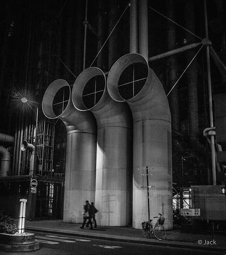 Beaubourg, la nuit