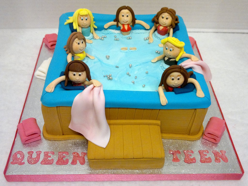 Hot Tub Birthday Cake Liz Flickr