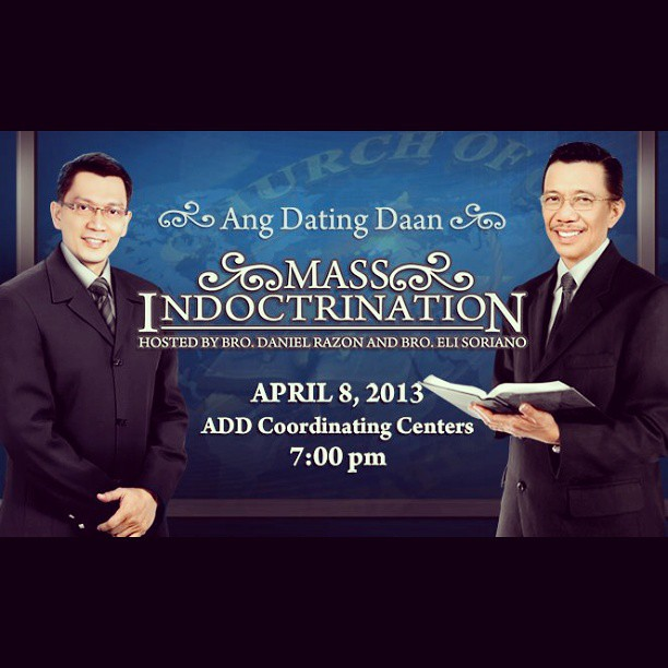 ang dating daan mass indoctrination schedule