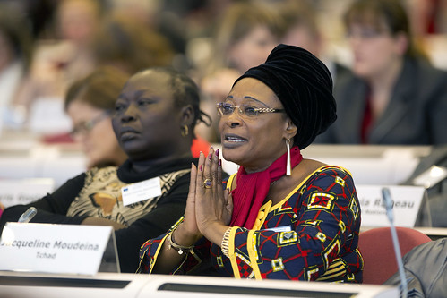 Jacqueline Moudeina, Lawyer and Human Rights Advocate, speaks at the Conference on Women's Leadership in the Sahel | by UN Women Gallery