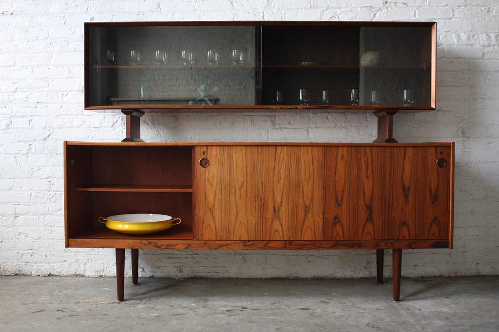 Danish Credenza Hutch : Undeniable dyrlund roswood danish mid century modern credeu2026 flickr