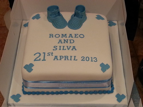 Baby Blue Booties Christening Cake | by platypus1974