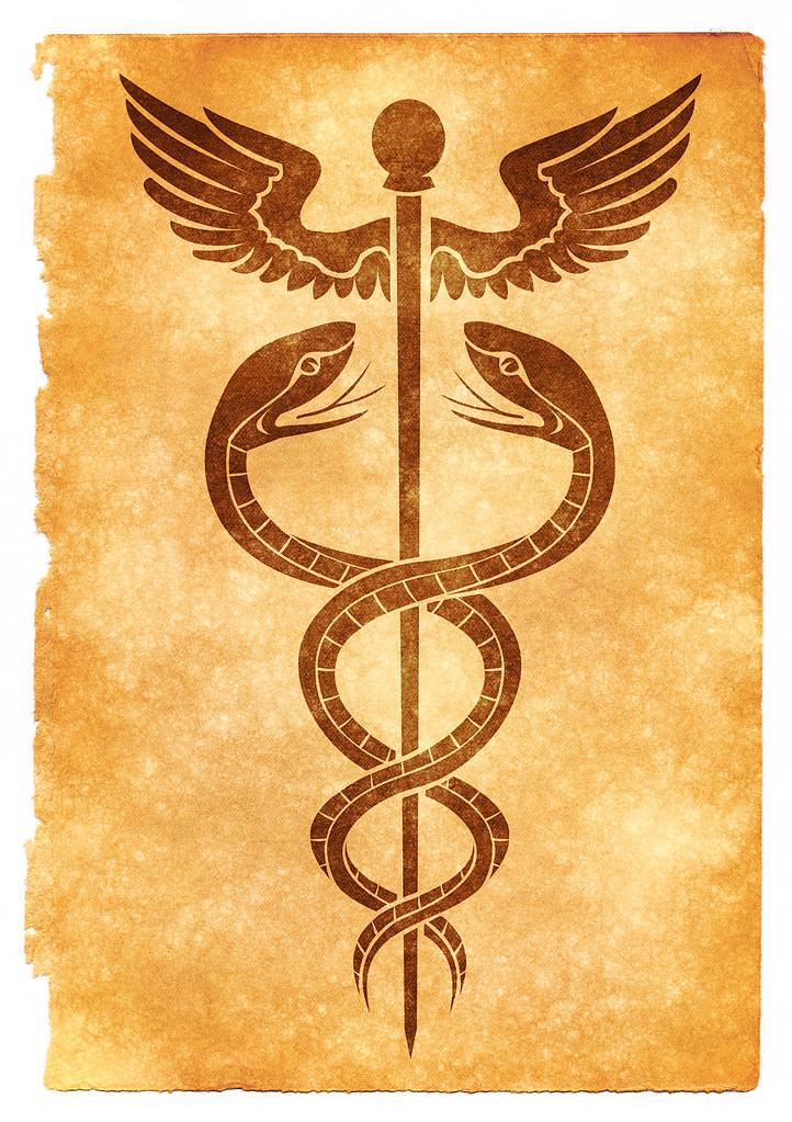 Caduceus Grunge Symbol Sepia Grunge Textured Caduceus Sy Flickr