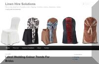 Linen Hire Solutions website
