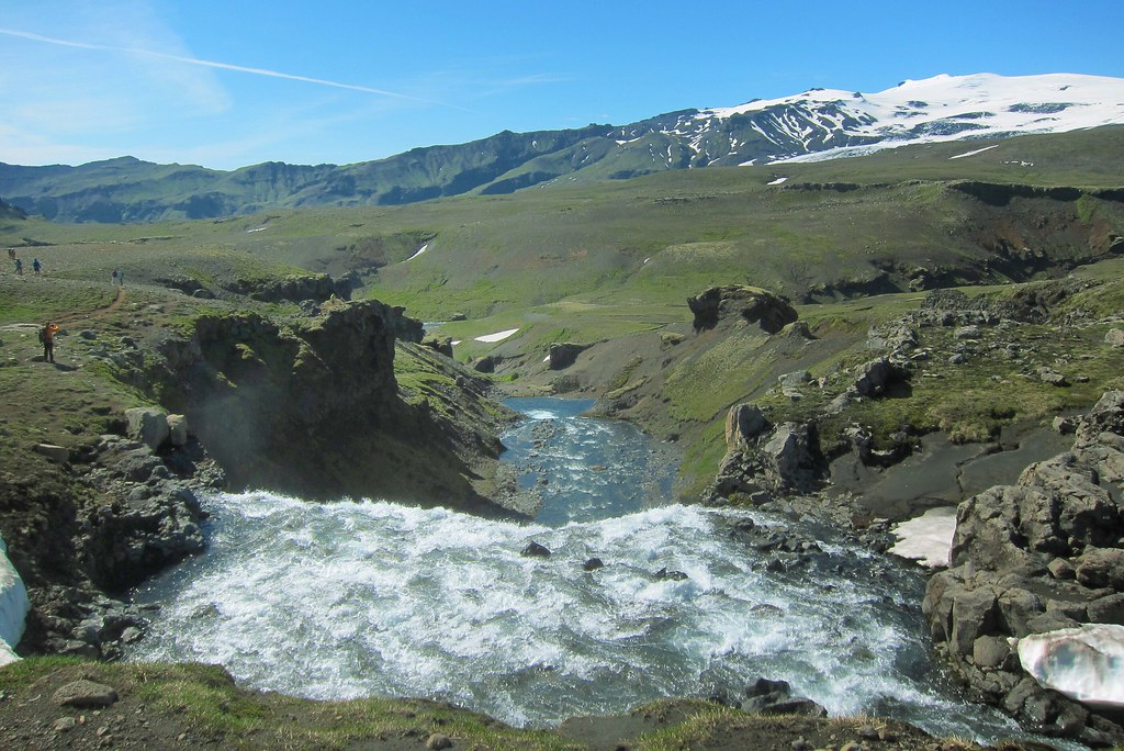 ... Iceland ~ Landmannalaugar Route ~ Ultramarathon is held on the route each July ~ Water Falls