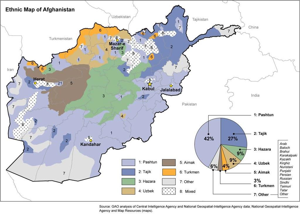 Afghan Ethnic Map 54