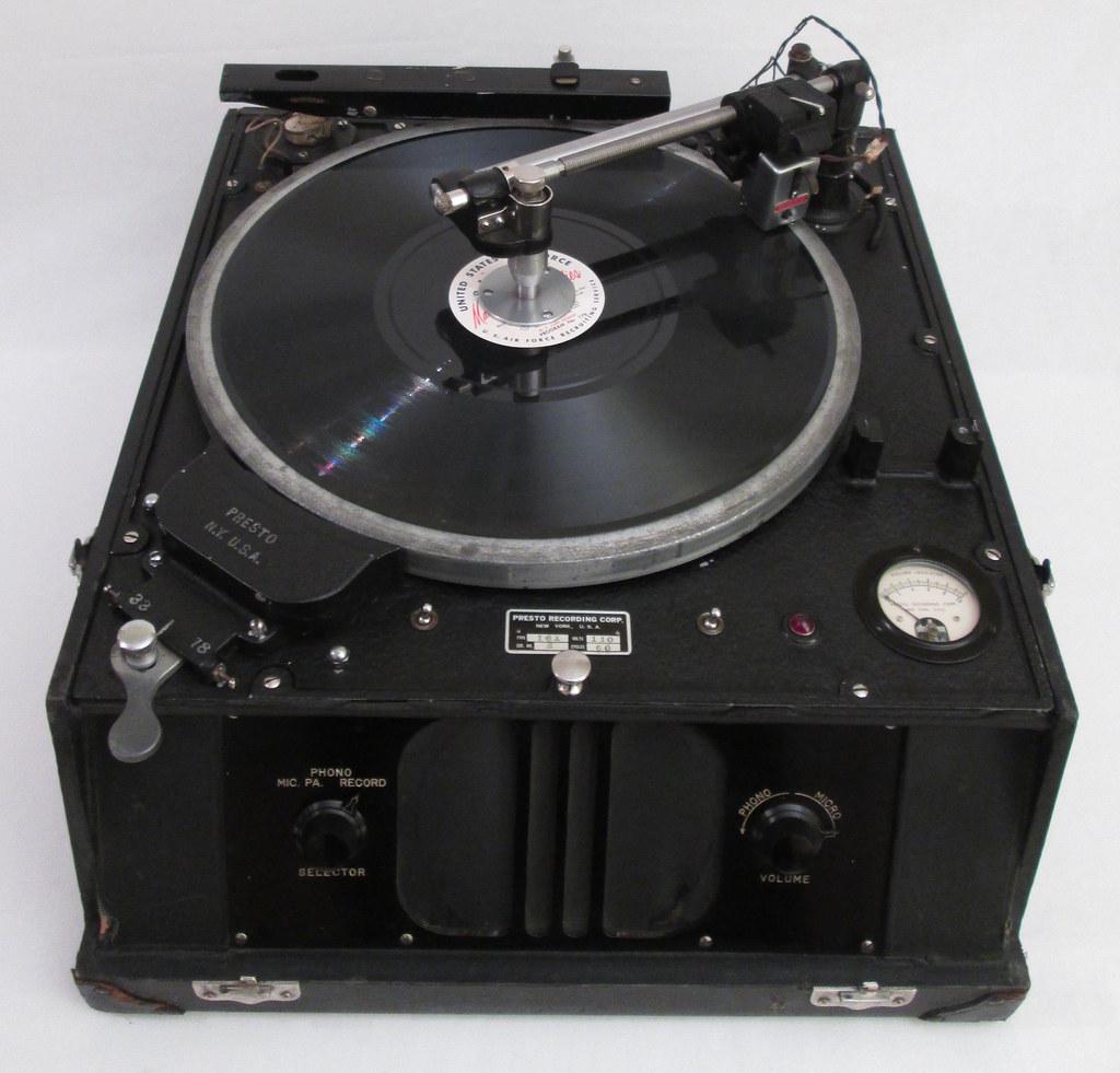 Mid 1930 S Presto 16 Inch Disc Recording Lathe Recorder