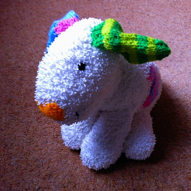 Snow Dog Knitting Pattern Free : The Snow Dog hand knit by Gt Grandma Asquith for Sophia. ?? Flickr
