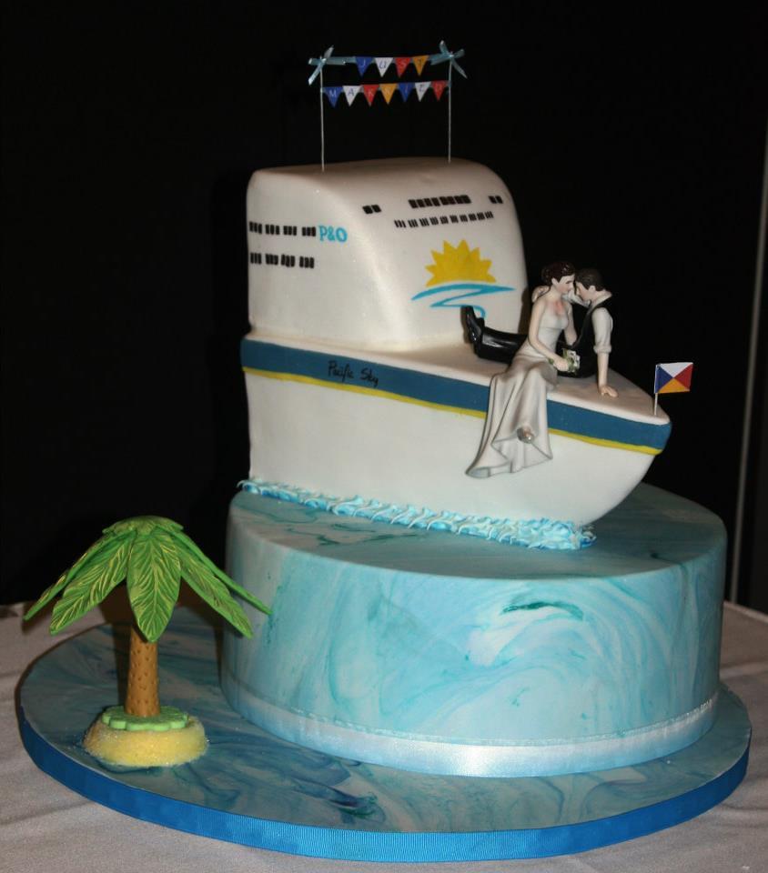 Marakye Cake Designs Wedding Cake Cruise Ship PampO