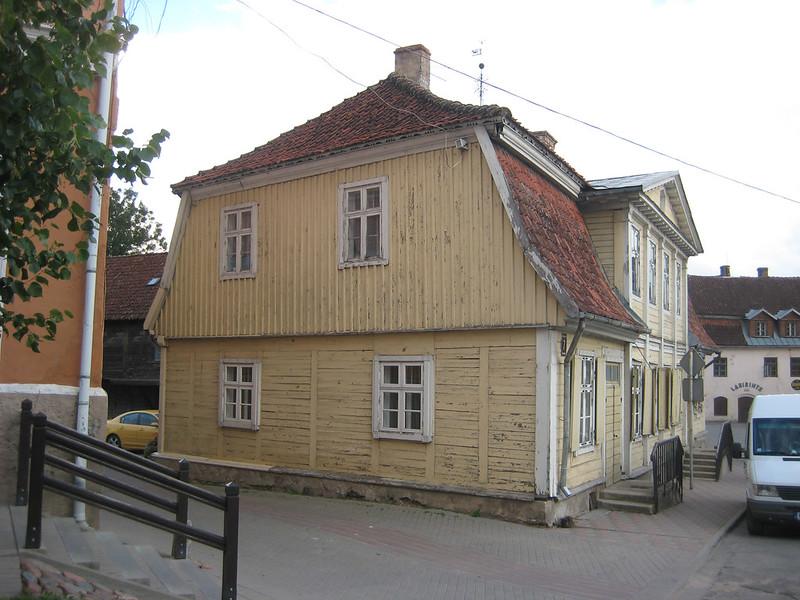 Wooden housing in Kuldiga old town, Kuldiga, LATVIA