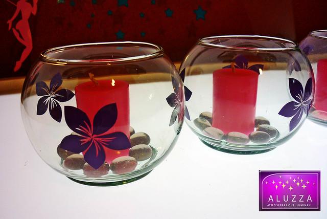 Peceras decoradas para recuerdos o centros de mesa de xv for Mesas decoradas para 15 anos