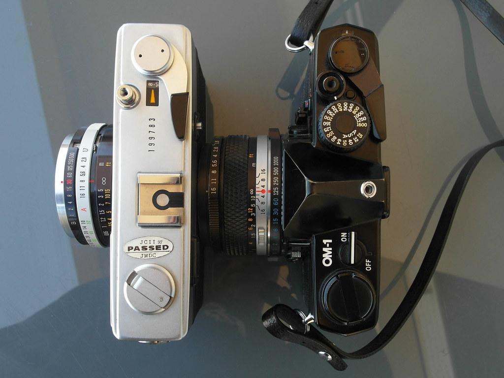 Size Olympus 35 SP vs Olympus OM-1 w- 50mm f1.8 lens-2089 ...