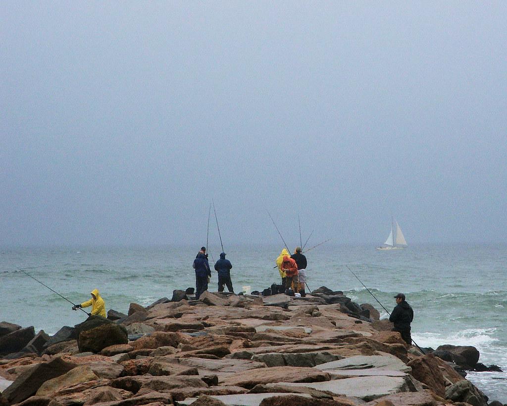 Tough fishing at charlestown breachway ri casting for for Striper fishing ri