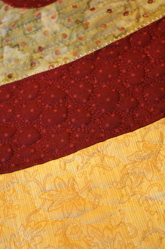 Persian Pickles table topper quilting detail | by aquilterstable