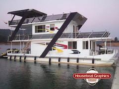 Houseboatgraphicscolordecalsboatgraphicscustomvinyl Flickr - Custom houseboat graphics