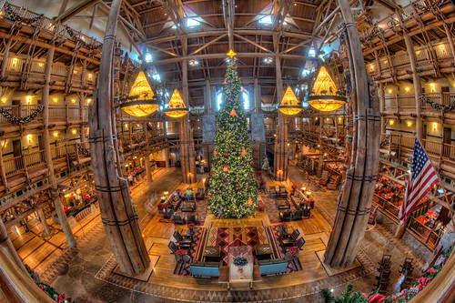 Wilderness Lodge Lobby and Christmas Tree | by Photomatt28
