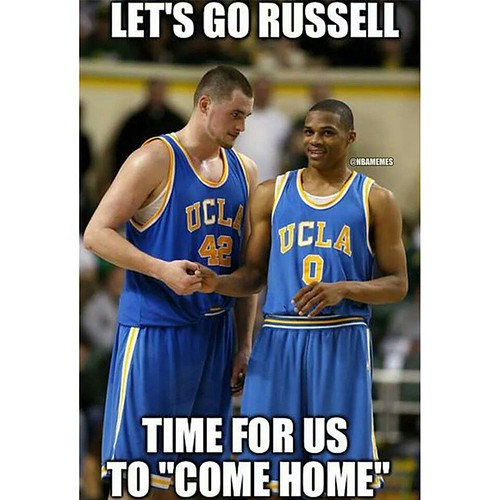 Rumors are that Kevin Love and Russell Westbrook are comin ...