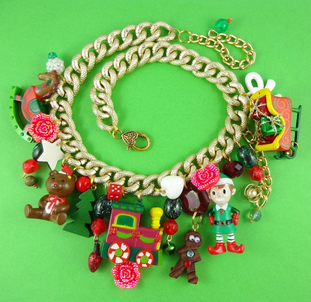 Kitschy Christmas Charm Necklace | Rainbow Mermaid | Flickr
