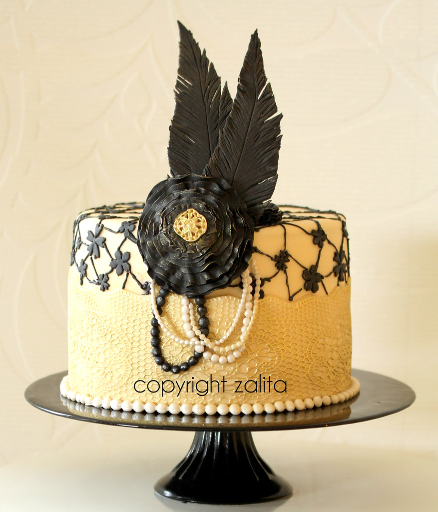 The Great Gatsby Inspired Cake I Did This Cake In A Day