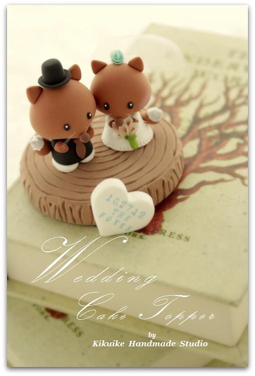 Wedding Cake Topper - lovely fox with stump | www.etsy.com/l… | Flickr