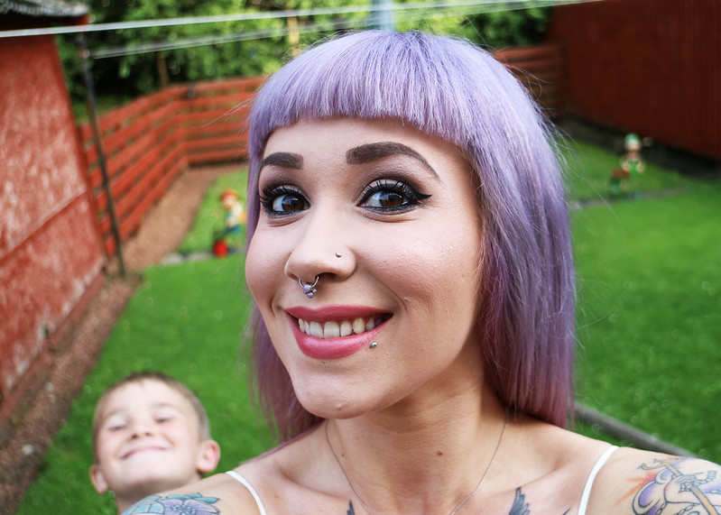 Lilac bangs